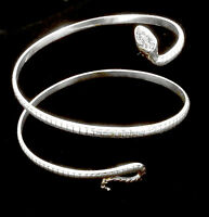 Pure Silver .925 Cuff Bracelet Snake Spiral Custom Designed One of a Kind