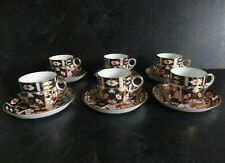 Royal Crown Derby Imari 2451 Coffee Cups & Saucers - Set of 6