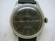 Vintage SWISS SIGMA 17 Jewels Manual Military Men's Watch 40's