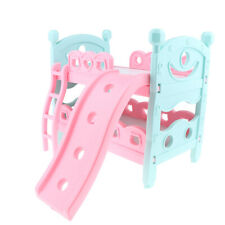 Dollhouse Bedroom Simulation Baby Bunk Bed Furniture Toy for MellChan Dolls