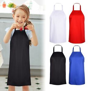 Cute Kids Apron Junior Chef Cooking Kitchen Drawing Painting School Child Apron