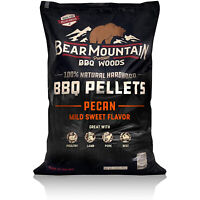 Bear Mountain BBQ 100% Natural Hardwood Pecan Sweet Flavor Pellets, 20 Pounds