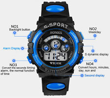 Hot Waterproof Children Boy Digital LED Quartz Alarm Date Sports Wrist Watch G2