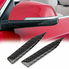 2x Carbon Fiber Car Rearview Mirror Trim Side Mirror Protector Guard fit BMW