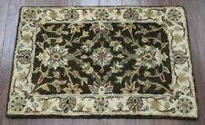 New Kalaty Floral Vines EM-284 Brown Ivory Wool Traditional Area Rug 2' x 3'