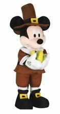 Fall Holiday Thanksgiving Disney 24 in Tall Mickey Mouse Pilgrim Greeter NWT