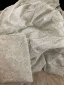 3pc SIMPLY SHABBY CHIC DITSY FLORAL STITCH GRAY PAISLEY Queen Fitted + 2 Cases