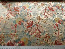 KRAVET ORIENTIAL CRANE bird Haute Red Lampas MSRP $199/Y