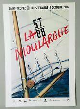"""PETER KLASEN, RARE ENSEMBLE AFFICHE + AVANT LA LETTRE """"LA NIOULARGUE"""" St TROPEZ"""