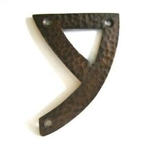 #9  Hammered copper house number. Craftsman/ Arts and Crafts. 4 inch high
