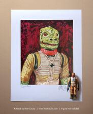 Star Wars BOSSK Vintage Kenner Action Figure ORIGINAL ART PRINT 3.75 ESB