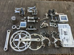 SHIMANO DURA ACE 7402 GROUP GROUPPO GROUPSET 8 SPEED DOUBLE WITH EXTRAS