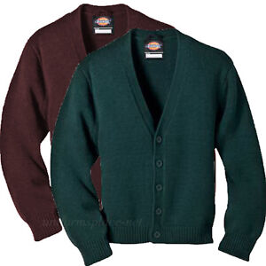Dickies Kid's Cardigan Sweater Boys V-Neck School Uniforms KW3650
