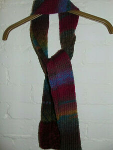 Unisex Knit Tie Rack London Scarf One Size Multi RRP £29.99 Made In Italy
