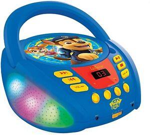 Lexibook RCD109PA Radio CD-Player Paw Patrol Kinder Musik Leuchteffekte