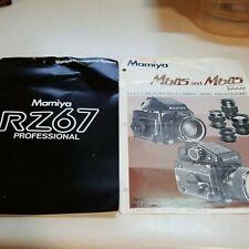 2 Mamiya brochures RZ67 and mb45 1000s Dealer letter 1989 Chicago vtg Sales