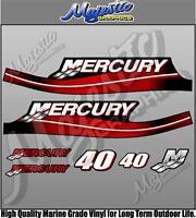 MERCURY 40hp - 2 Stroke - OUTBOARD DECALS