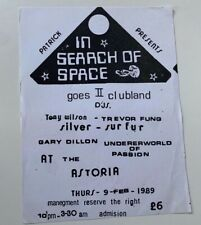 More details for in search of space goes ii clubland @ the astoria old rave flyer 9th feb 1989