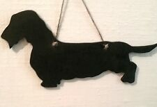 DACHSHUND DOG WIRE HAIRED sausage dog chalk board blackboard Christmas gift pet