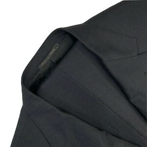 Mens 40 R Corneliani Charcoal Grey Pin Dot Super 150's Wool Suit Made Italy
