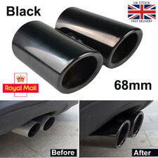 68mm Black Stainless Steel Exhaust Pipe Rear Muffler Tip for VW Golf VI Scirocco