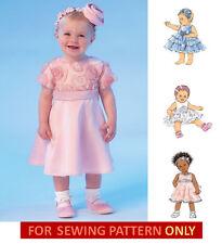 SEWING PATTERN! MAKE BABY GIRL FANCY DRESSES~PANTIES~HEADBAND! NEWBORN-18 MONTHS
