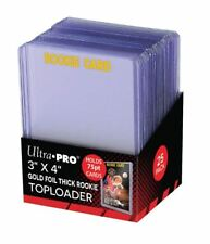 (Pack of 25) Ultra Pro Super Thick RC Gold Rookie 75pt Toploader Card Holders