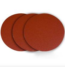 Powertec 12 inch 60 Grit Aluminum Oxide Sanding Disc Adhesive 3 Pack Sandpaper