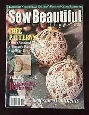 Martha Pullen Sew Beautiful Magazine Heirloom Sewing Pattern Christmas Issue 84