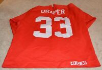 1998 KRIS DRAPER GAME USED DETROIT RED WINGS JERSEY COA HOCKEYTOWN AUTHENTICS
