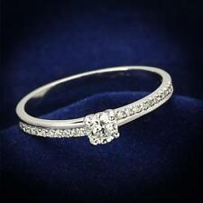 112 STERLING SILVER CZ  RING  MICRO PAVE SOLITAIRE CUBIC ZIRCONIA ENGAGEMENT