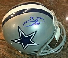 Beckett Certified Signed Emmitt Smith Full Size Autographed Cowboys Helmet