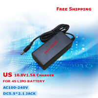 US 16.8V 1.5A LiMn2Q4 Battery Charger 4S Smart Charger  with 5.5*2.1mm DC plug