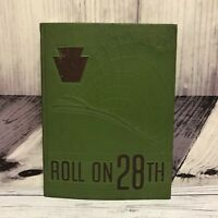 Vintage 1950-1951 Roll on 28th Camp Atterbury US Army Indiana Annual Yearbook