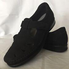 SAS Women's Size 7.5 N Roamer Charcoal Black Leather Moccasin Tripad Comfort