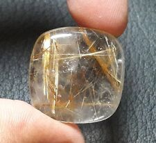28.20 CTS NATURAL COPPER RUTILE CABOCHON CUSHION SHAPE LOOSE GEMSTONE B 2183