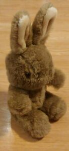 "Vintage Applause 1985 Brown Rabbit Bunny Stuffed Animal Plush 12"" MINT CONDITION"