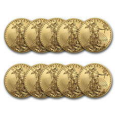 BANK WIRE PAYMENT - 2017 1 oz Gold American Eagle BU - Lot of 10
