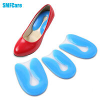 1Pair Silicone Gel Heel Comfort Cup Pad Cushion Insoles Inserts Sole Shoe Z53801