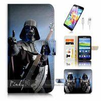 ( For Samsung Grand Prime ) Wallet Case Cover P2194 Starwars Darth Vader