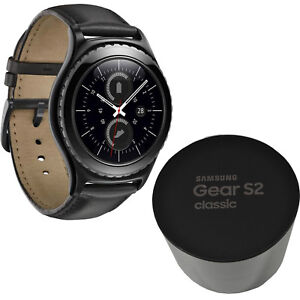 BNIB Samsung Galaxy Gear S2 Classic SM-R7320 4GB Black IP68 Powered by Tizen New