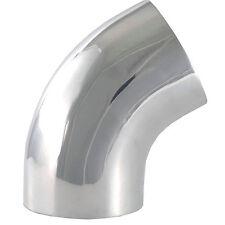 "5 "" O.D. 60 Degree Bend Polished Aluminum Mandrel 9669 Elbow Tube Pipe"