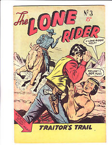 """The Lone Rider  No 3 1960's- Austrailian -""""Knife Fight Cover !  """""""