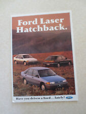 1990 Ford Laser automobile advertising booklet