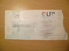 Billete-Málaga C F v Real Betis bpie-Fondo De Pie, 12 de septiembre de 1999