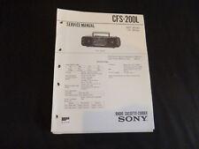 Original Service Manual Sony CFS-200L