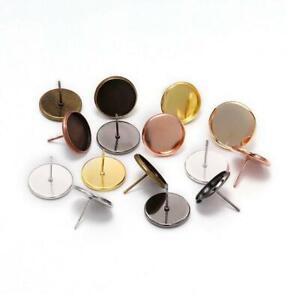 50pcs Earring Blank Base Cabochon Cameo Base Earring Setting DIY Jewelry Making