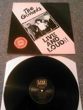 THE GONADS - LIVE AND LOUD!!! LP N. MINT!!! UK LINK RECORDS 049 PUNK OI!