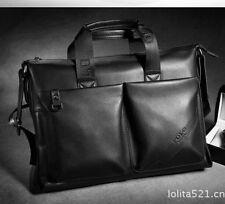 LQ Mens Laptop Briefcase  Handbag Genuine Leather  Wallet Shoulder Messenger Bag