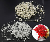 Acrylic Pearl Bead Hanging String Wedding Garland Bouquet Party DIY Venues Decor